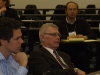 CESIS director Borje Johansson listens to the discussion at the CSTP-CESIS workshop.